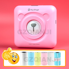 Peripage Mini Pocket Photoเครื่องพิมพ์ความร้อนแบบพกพาภาพเครื่องพิมพ์บลูทูธUSBสำหรับโทรศัพท์มือถือAndroid IOSโทรศัพท์PC A6