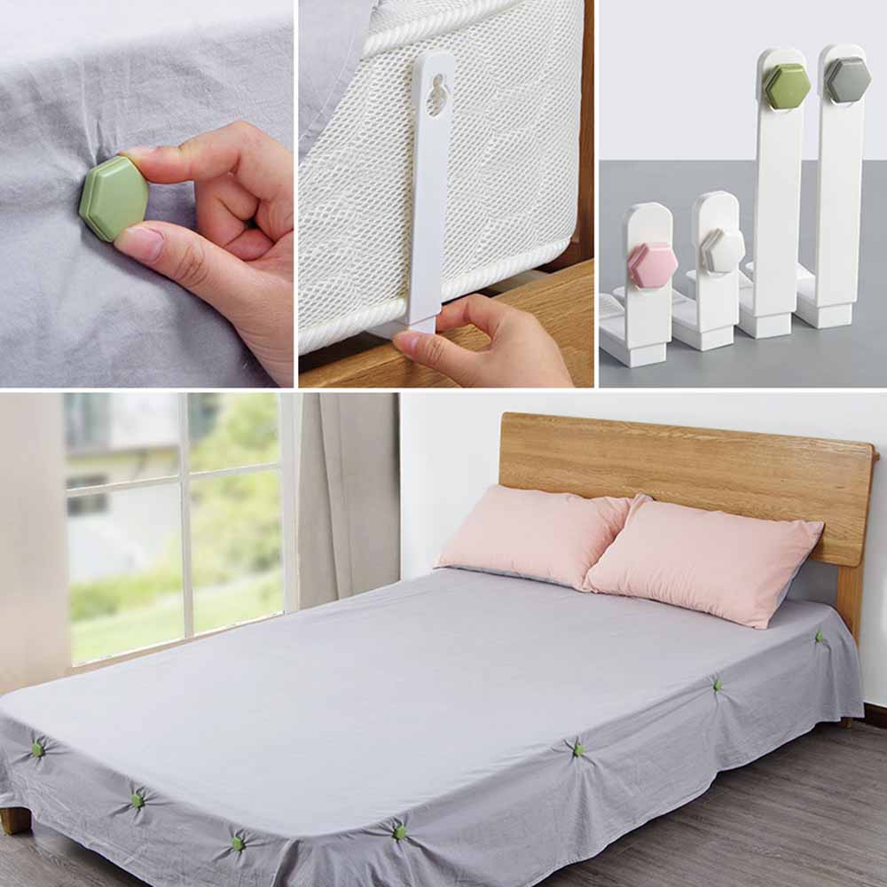 4Pcs//Set Bed Sheet Clip Bed Sheet Fixed Grippers Clip Anti-slip USA
