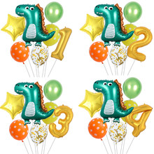 7 Stks/partij Dinosaur Folie Ballonnen 32Inch Nummer Folie Ballon Kids Verjaardag Ballon Baby Kids Verjaardagsfeestje Jurassic World Decor
