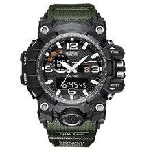 Shock men sports relógios g estilo grande dial digital militar relógio à prova dmilitary água relógio masculino masculino relógio esportivo