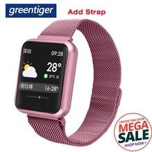 Greentiger P68 Smart Bracelet Multi-sport wristband IP68 Waterproof Activity Fitness Tracker heart rate Smart Watch Men Women