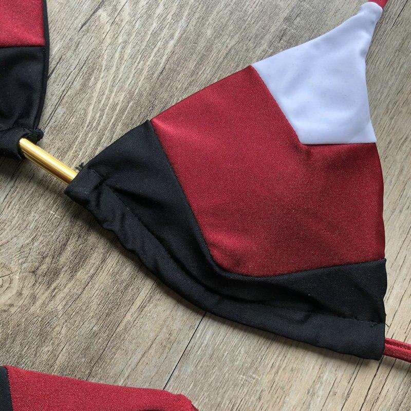 Hab1b5274b8e24191a8a42fb0af6b34080 Sexy Halter Swimsuit Women Thong Micro Bikini Push Up 2019 Brazilian Bikini Tropical Plant Print Swimwear String Mini Swimsuit