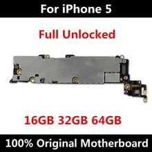 Placa base Original para iphone 5, versión oficial, 16GB, 32GB, 64GB, con Chips, IOS, placa lógica instalada