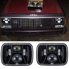 Farol selado do feixe dos faróis do diodo emissor de luz de 5x7 polegadas dos pces 2 com baixo alto feixe para luzes fora-da-estrada do carro do wrangler yj turck de jeep