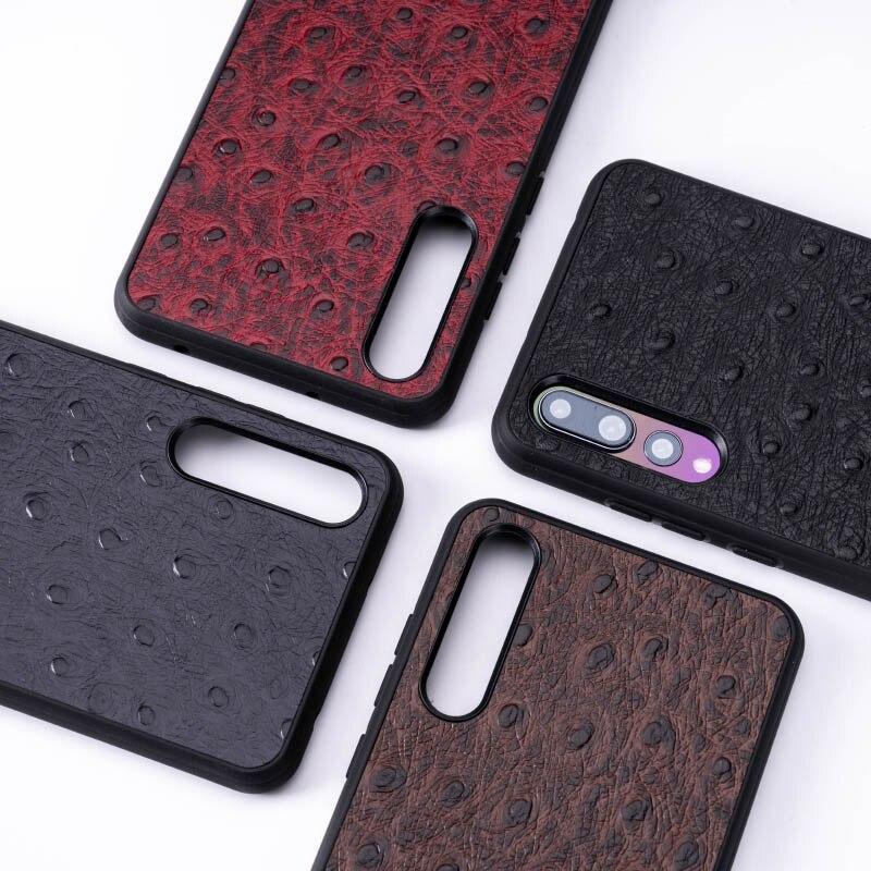 Pelle di struzzo Cassa Del Telefono Per Huawei Compagno di 20 10 9 Pro P10 P20 Lite Molle di TPU Copertura del Bordo Per Honor 8X Max 9 10 Nova 3 3i Capa - 5