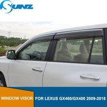 Vento Visiera deflettori Pioggia Guardie Per LEXUS GX460/GX400 2009 2018 Tenda Da Sole Tende Da Sole Rifugi Guardie accessori SUNZ