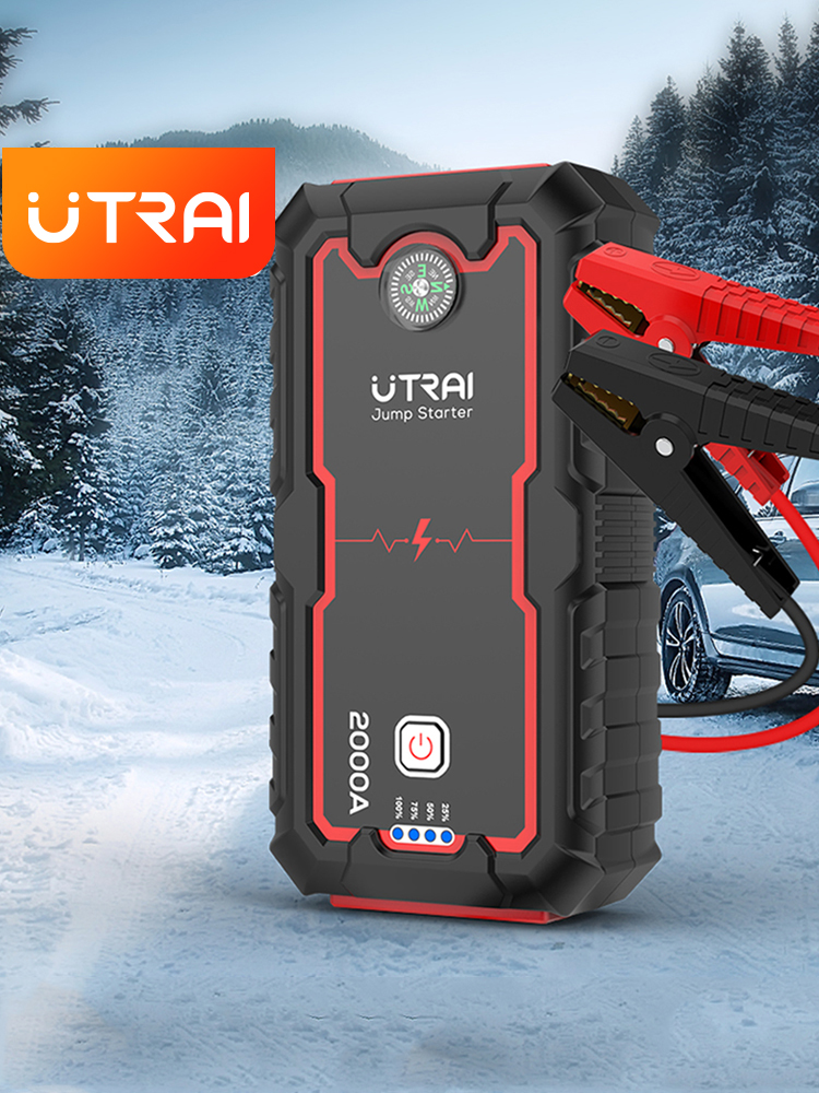 Пусковое устройство UTRAI, пусковое устройство , аккумулятор 22000mAh 2000A 12 В, пускозарядное для авто, автомобильный стартер, автомобильный пусков...