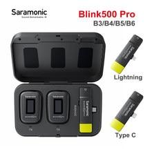 Saramonic Blink500 Blink 500 Pro B3 B4 B5 B6 Wireless Lavalier-mikrofon Mikrofon Dual Kanal Kondensator Mic für Typ C Blitz telefon