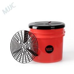MJJC que detalla la cubeta para lavar autos con soporte de arena y juego de tapas de asiento