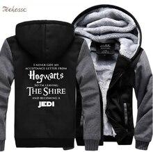 Hogwarts Star Wars Jedi Creative Funny Sweatshirts Hoodies Tracksuit 2018 Winter Warm Fleece Thick Men Novelty Male Hoodie Coat