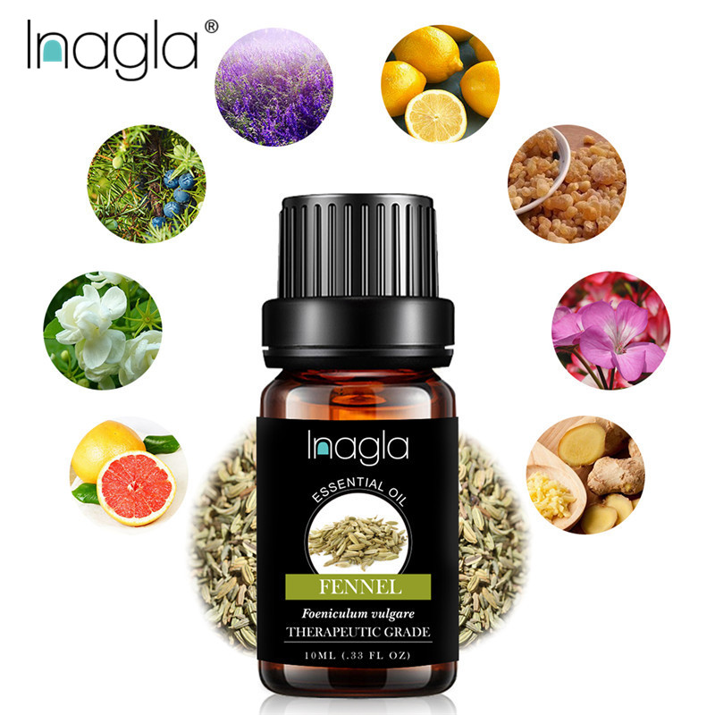 Inagla Fennel Essential Oils Pure Natural 10ML Pure Essential Oils Aromatherapy Diffusers Oil Relieve Stress Home Air Care