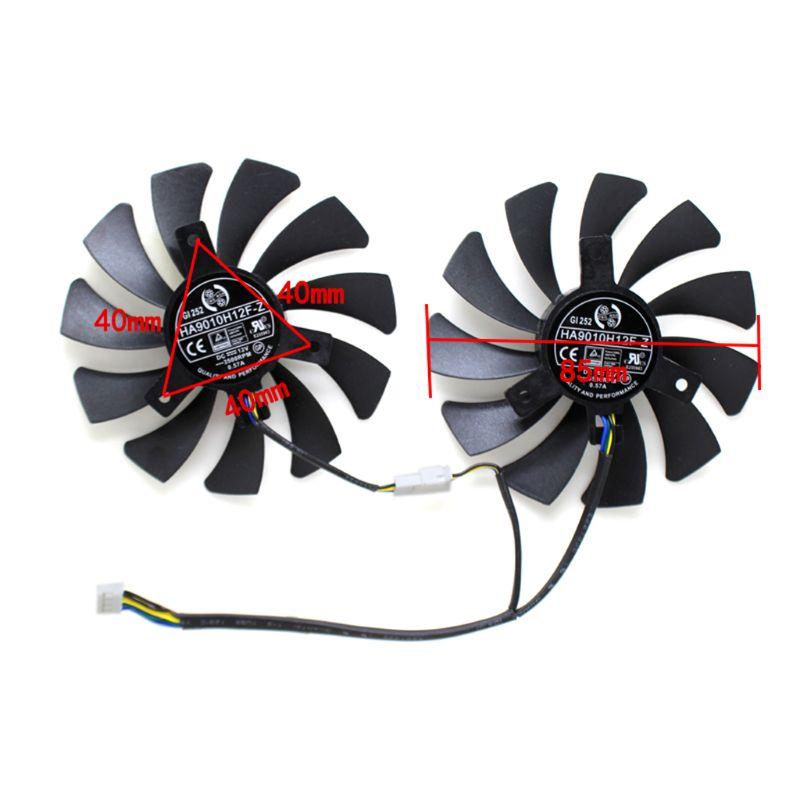 85MM HA9010H12F-Z 4Pin Cooler <font><b>Fan</b></font> Replacement For MSI <font><b>GTX</b></font> 1060 OC 6G <font><b>GTX</b></font> <font><b>960</b></font> H4GA image
