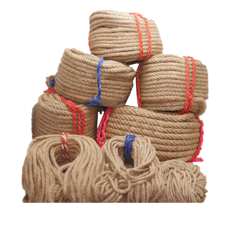 Jute 1/3/5/6/10/14mm Coarse Natural Hemp Rope Tied Rope Outdoor Rope Staircase Decorated Fence Rope DIY Hand-woven Craft Rope