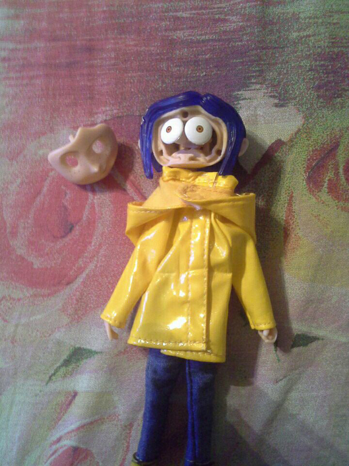7inch Coraline The Secret Door Coraline Y La Puerta Secreta Raincoat Take Off Action Figure Toys Doll Christmas Gift Action Toy Figures Aliexpress