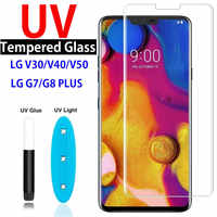 9D Curved UV Nano Liquid Tempered Glass For LG V30 V40 V50 Full Coverage UV glass Film For LG G7 G8 Plus Thinq Screen Protector