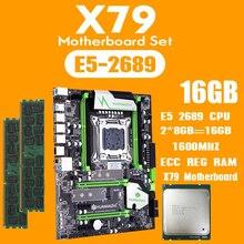 huananzhi X79 motherboard set with Xeon E5 2689 2x8GB=16GB 1600MHz DDR3 ECC REG memory USB3.0 SATA3 PCI E NVME M.2 SSD