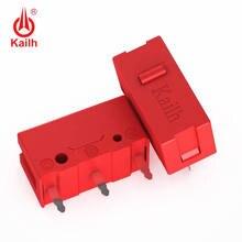 2 pces kailh vermelho gm 60m micro interruptor para jogo competição botão do mouse botão esquerdo direito pode substituir 3 pinos retângulo micro interruptor