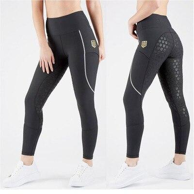 Женские штаны для верховой езды, бриджи для верховой езды, штаны для верховой езды, женские бриджи для верховой езды, Стрейчевые леггинсы для верховой езды, размер XXS-L - Цвет: Style 2-Black