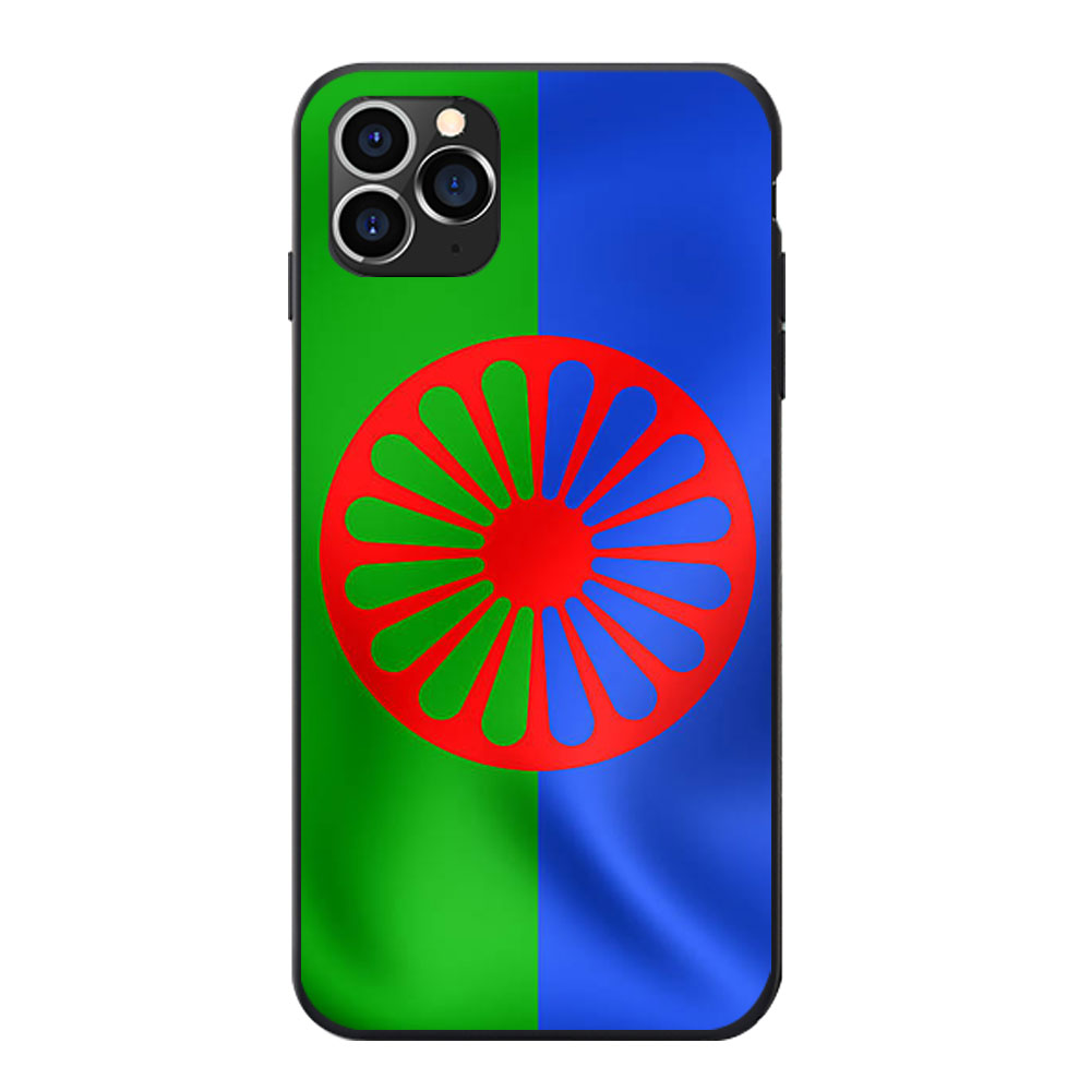 Coque de téléphone en TPU souple, thème drapeau romain gitane, pour iPhone 6 7 8 S XR X Plus 11 Pro Max