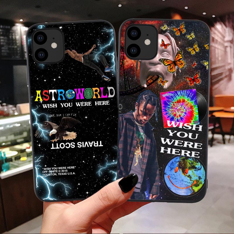 Travis Scott Astroworld Tour silicone Case For iPhone 11 Pro Max 2019 xs wish you were here For iPhone 6 6s 7 8 Plus X XR Xs Max
