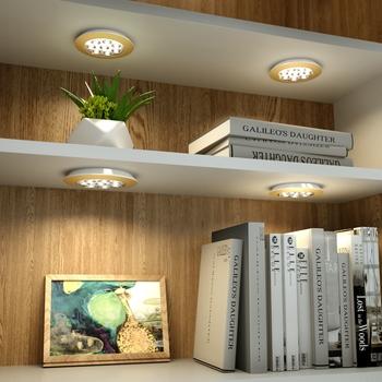 Bezprzewodowe przyciemnianie pod oświetlenie szafki LED pilot lampka do szafy aluminium led ładowane na USB lampka nocna oświetlenie kuchenne tanie i dobre opinie HAIMAITONG CN (pochodzenie) ROHS Z aluminium akumulator PRZEŁĄCZNIK 100000Hours Under cabinet light warm white white