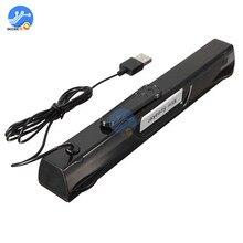 Mini altavoz portátil USB, caja de altavoz, reproductor de música, ordenador portátil, Boombox Multimedia, 5V, 500Ma, 2W × 2