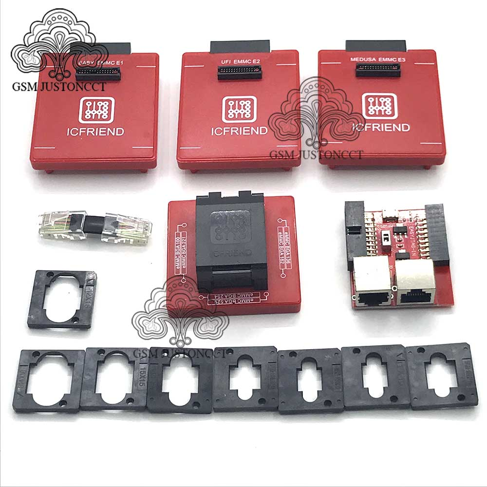 2020 IC FRIENED MOORC Emate box E-mate X EMMC BGA 13 IN 1 Support BGA100/136/168/153/169/162/186/221/529/254 for Easy jtag plus