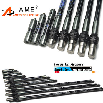 1Pc Archery Balance Bar Stabilizer Balance Rod Weight Damper For Compound Bow Recurve Bow Outdoor Hunting Shooting Accessories 1set archery balance bar stabilizer carbon stabilizer damping rod shock damper for recurve compound bow hunting accessory