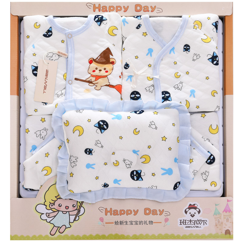 Thick Newborns Clothes Autumn And Winter Baby Gift Package Newborn Baby BABY'S FIRST Month Set Supplies