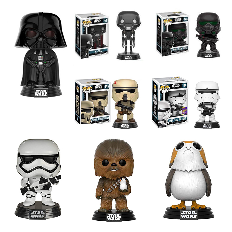 Funko POP 2020 PORG Bog Bird Star Wars Black And White Warrior PVC Action Figure Collection Model Christmas Present