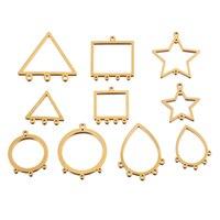 10 Uds de acero inoxidable Pendiente de oro geometría resultados lágrima enlace conectores DIY cuelga oído componentes de cable al por mayor