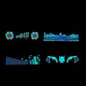 Image 5 - Voor Auto Achter Glas Led Equalizer Auto Neon El Licht Muziek Ritme Jump Flash Lamp Sticker Styling Met control Box