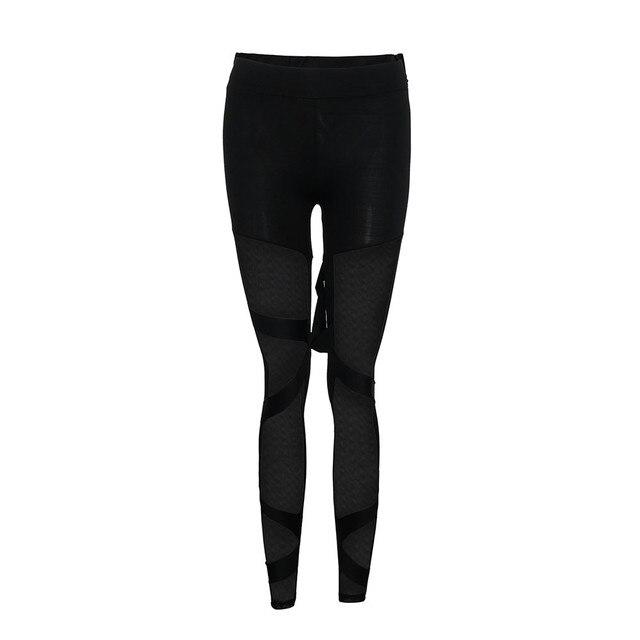 Mesh Print Leggings Sport Women Fitness Trousers Women Black White Striped Jacquard Hip Running Fitness Jeggings Pants 4