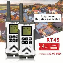 цена на Retevis RT45 PMR Radio Walkie Talkie 2 pcs PMR PMR446 FRS Handy Two-Way Radio Communicator Family Walkie-Talkie Walkie-talkies