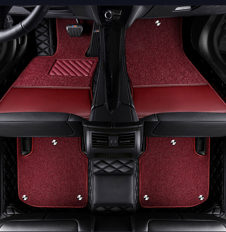 CARFUNNY Waterproof leather car floor mats for <font><b>Mercedes</b></font> Benz <font><b>B</b></font> class 160 170 <font><b>180</b></font> 200 220 260 W245 W246 car accessories image