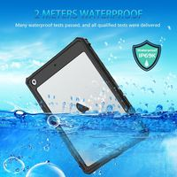 protective tpu For iPad 10.2 inch 2019 Waterproof Case Dual Layer PC + TPU Cover IP69 Waterproof Dustproof Anti-fall Tablet Protective Shell (3)
