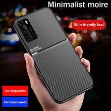 Matte Leather Texture Cover Case For Huawei p40 pro p30 p20 Nova 6 Se 5i 5t Mate 40 Pro 20 30 Lite y9 Prime Pinteligent