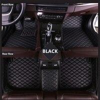 SJ ALL Weather Custom Fit Car Floor Mats Front & Rear FloorLiner Styling Auto Carpet Mat For Cadillac CTS Sedan 2 Door 2011 2012