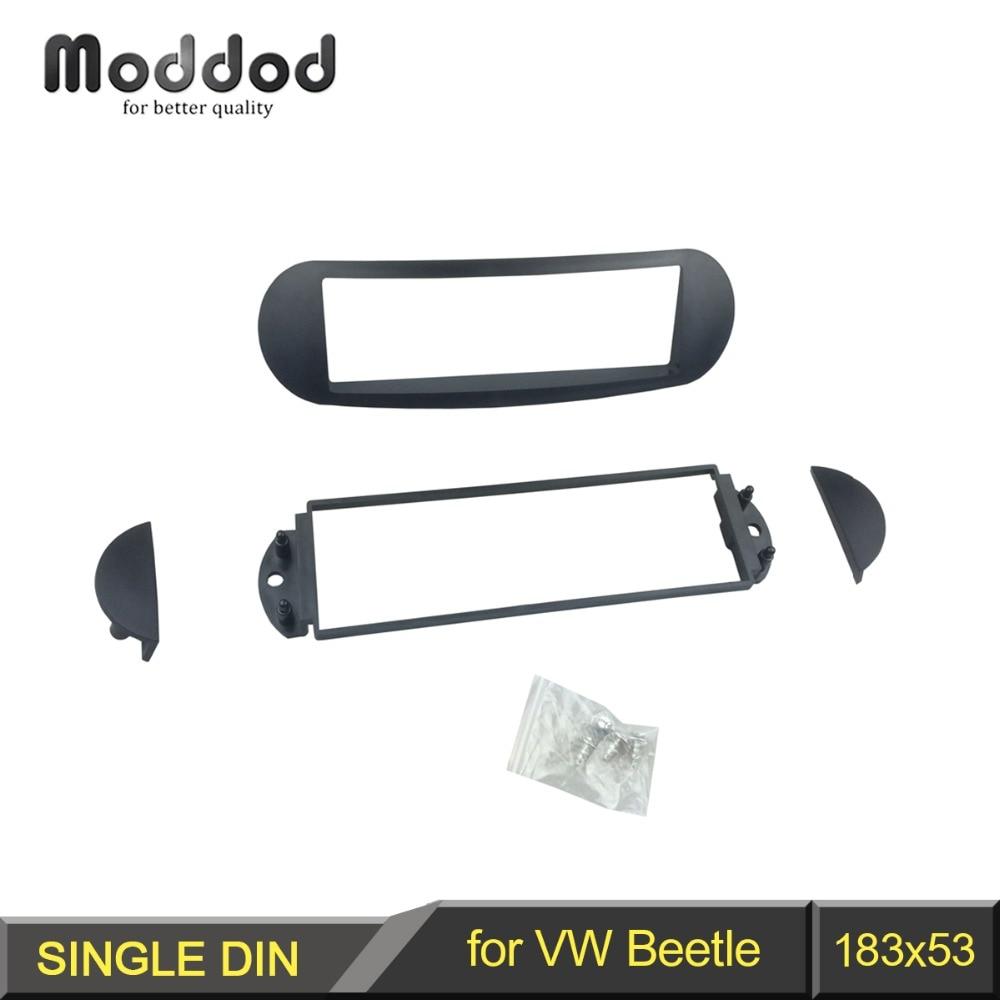Een Din Fascia Voor Volkswagen New Beetle Radio Dvd Stereo Panel Dash Montage Installatie Trim Kit Gezicht Frame