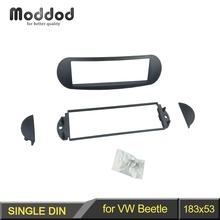One Din Fascia For VOLKSWAGEN New Beetle Radio DVD Stereo Panel Dash Mounting Installation Trim Kit Face Frame cheap Moddod CN(Origin) Fascias Radio Installation 10 2cm 17 8cm 1998+