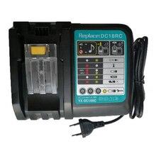 Dc18Rct cargador de batería de iones de litio de repuesto 6A corriente de carga para Makita 14,4 V 18V Bl1830 Bl1430 Bl1850 Dc18Rc Dc18Ra potencia también