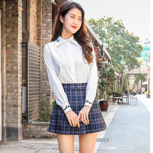 XS-2XLWomen Skirt Cute style High Waist Elegant Stitching Skirts Summer student pleated skirt women sweet cute girl dance skirt 6