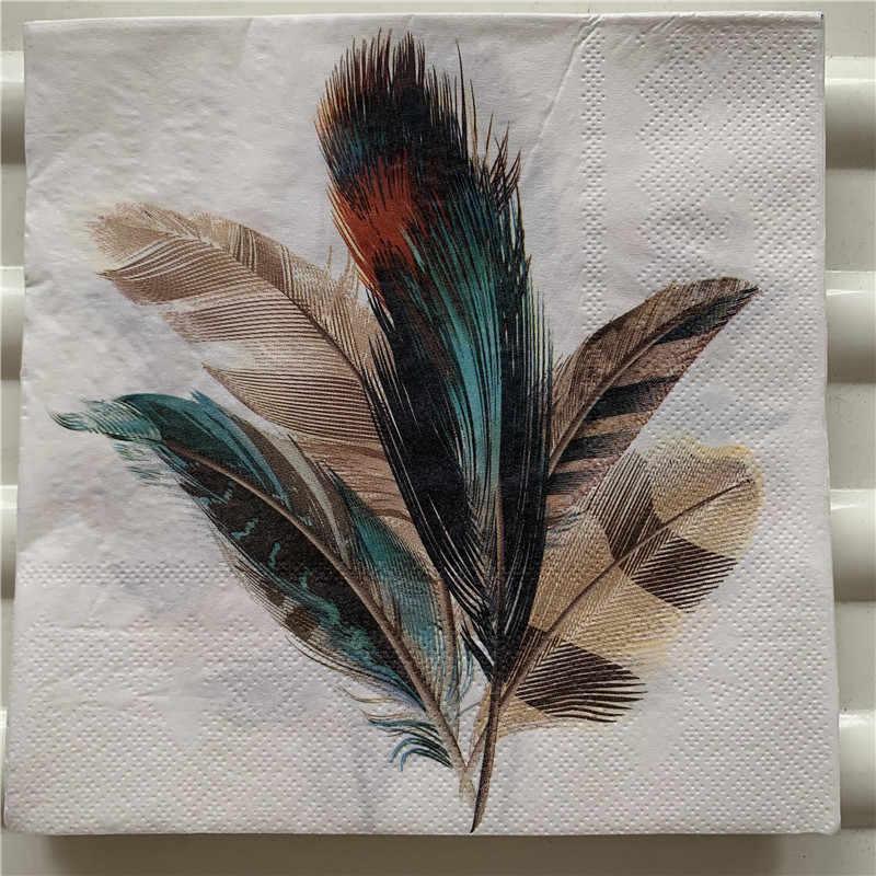 Weddings Serviettes for Decoupage 2 Paper Napkins Parties Feathers