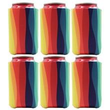 6 Piece Neoprene Can Koozies Printed Can Sleeve/Cooler/Holder For Beer,soda ,beverage