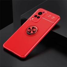 سيليكون جراب لهاتف Vivo X60 برو + 5G V20 SE X60t X51 حالات 2021 المغناطيس حامل حلقي الهاتف غطاء ل فيفو X50 حالة متجمد سطح