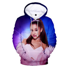 New Ariana Grande 3D Printed Hoodies sweatshirts Women/Men Long kpop Sleeve Hooded women Street Sweatshirt Casual child Clothing