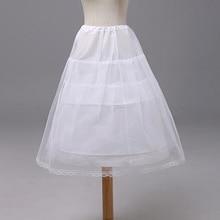 Детское платье принцессы 3-х слойная юбка-американка Косплэй для девочек длинные кринолин скольжения 2-Обручи для девочек в цветочек подъюбник для свадебного платья с регулировкой