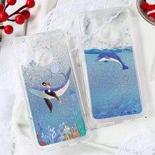 Shark Whale Fish Quicksand Liquid Case For Huawei Mate 20 Lite 10 P10