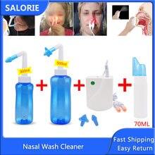 Lavado Nasal limpiador Protector Nasal limpia humedece sinusal enjuague rinitis alérgica cura olla Neti 500ML/300ML/70ML para niños adultos