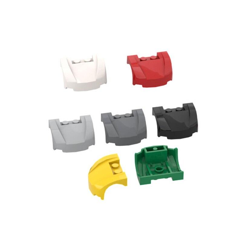 Construção de tijolos brinquedo diy peças 3x4x1.67 2/3 curvo frente fender tijolo peças 10 pçs presente construção crianças brinquedo 98835 frete grátis